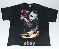 The Dark Knight Joker Magic Trick shirt Sz 2XL Heath Ledger Movie Promo