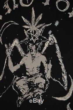 UNIF Baphomet Supreme Satanic Wizard Goth Black Magic Marijuana Demon L T-Shirt