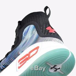 Under Armour UA Curry 4 More Magic Black White Red Basketball shoes 1298306-016