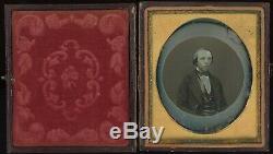 Unusual Magic Background Vignette Man in Circle 1/6 Plate Daguerreotype E600