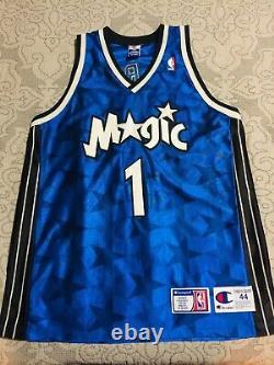 VINTAGE 100% AUTHENTIC Champion Tracy McGrady Orlando Magic Authentic Jersey 44
