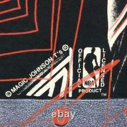 VINTAGE Magic Johnson T's NBA Total Pattern Michael Jordan T-shirt BULLS SIZES
