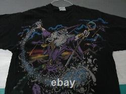 VTG 1994 LIQUID BLUE WIZARD SORCERER T-Shirt Men's Large All Over Print