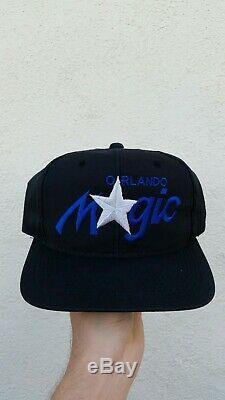 VTG 90's Orlando Magic Single Line Script Sports Specialties NBA Hat Snapback