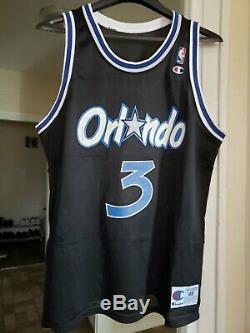 VTG 90s Champion NBA Orlando Magic #3 Dennis Scott Mens Size 48 RARE