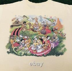 VTG 90s Disney Magic Kingdom Front Back Graphic Rare Vintage Shirt Mens L