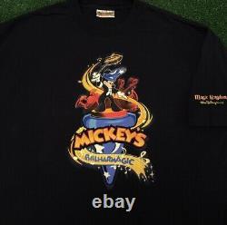 VTG 90s Disney Mickey Philharmagic Ride Promo Magic Kingdom Vintage Shirt XL