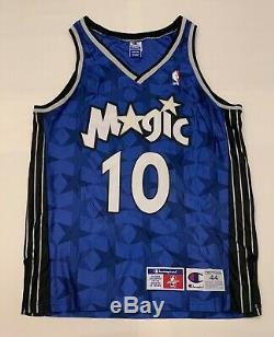 VTG Darrell Armstrong #10 Orlando Magic Champion NBA Authentics Jersey Men Sz 44