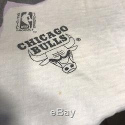VTG Michael Jordan Chicago Bulls T-shirt Magic Johnson T's All Over Print XL