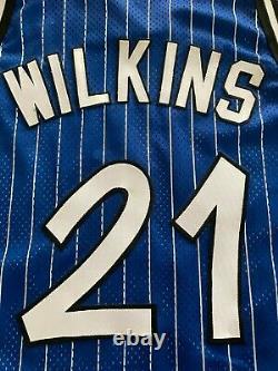VTG Rare Sewn Dominique Wilkins Authentic Orlando Magic Jersey Mens Sz 48 Stripe