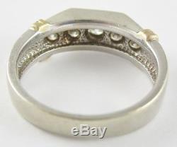 Very Nice Men's Magic Glo 14k Gold Diamond Wedding Band 8.8g 0.65ct