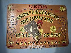 Vintage 1943 Veda the Magic Answer Man Ouija Board, Mystery Talking Board