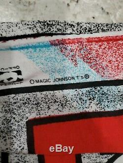 Vintage 1991 Chicago Bulls Magic Johnson T'S T All Over Print Shirt Men's Sz XL