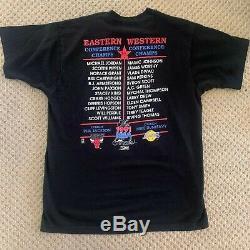 Vintage 1991 NBA Finals Michael Jordan Magic Johnson T Shirt XL Bulls Lakers