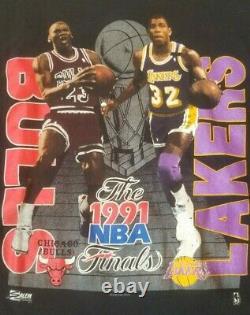 Vintage 1991 NBA Michael Jordan Magic Johnson Finals Men's XL Salem Sportswear