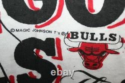 Vintage 1993 Michael Jordan Chicago Bulls All Over Magic Johnson Ts XXL 90s