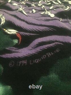 Vintage 1994 Liquid Blue WIZARD All Over Print T-Shirt XXL XL Rare Vtg 90s