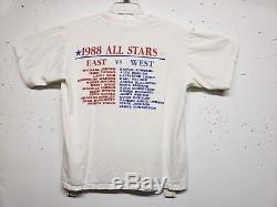 Vintage 80s 1988 NBA All Star Games T Shirt Mens Large Bird Jordan Magic RARE