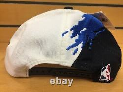 Vintage 90's Logo Athletic NBA Orlando Magic Paintbrush Splash Snapback Hat Cap