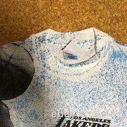 Vintage 90's Magic Johnson T's Tee T Shirt All Over Print F Rare Michael Jordan