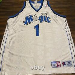 Vintage 90s Champion Tracy McGrady Orlando Magic Jersey Sz 52 Stars