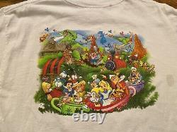 Vintage 90s Disney Magic Kingdom T Shirt Double Sided Mens L