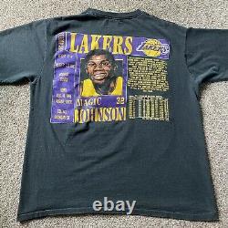 Vintage 90s Magic Johnson LA Lakers Shirt Single Stitch Nutmeg 1991 XL Rare HTF