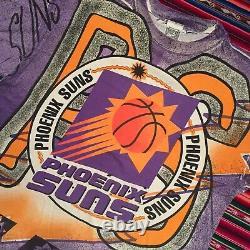 Vintage 90s Magic Johnson Phoenix Suns All Over Print T Shirt XL