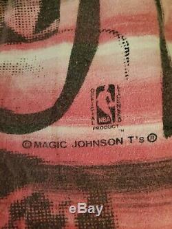 Vintage 90s Michael Jordan Chicago Bulls Basketball Magic Johnson T's Shirt XL