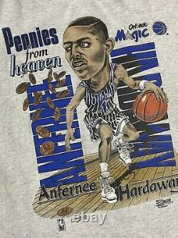 Vintage 90s Orlando Magic Penny Anfernee Hardaway T Shirt XL XXL Salem made USA