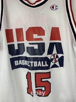 Vintage Champion 1992 Dream Team USA Basketball Jersey Magic Johnson Sz 44