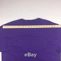 Vintage Champion 90s Los Angeles Lakers NBA Purple Shirt Mens Large Kobe Magic