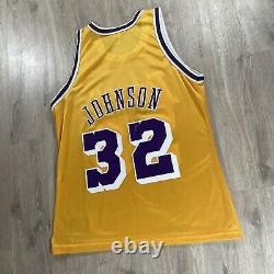 Vintage Champion Magic Johnson Jersey Los Angeles NEW Lakers NBA Size 44 Large