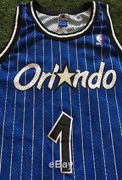 Vintage Champion NBA Orlando Magic Hardaway Jersey Authentic Mens 48 USA 90s
