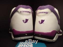Vintage Converse Triple Double Mid-cut Magic Johnson Lakers White Purple Ds 14