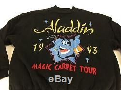 Vintage Disney Aladdin 1993 Magic Carpet Tour Jacket Size Large