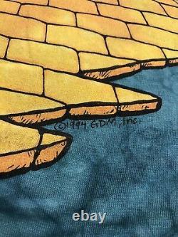 Vintage Grateful Dead 1994 Tour Wizard Of Oz Shirt Liquid Blue Deadstock New