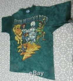 Vintage Grateful Dead 1994 Tour Wizard Of Oz Shirt Liquid Blue Tye Dye Large