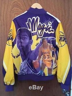 Vintage MAGIC JOHNSON LA LAKERS Chalk Line Jacket. Varsity, NBA Basketball