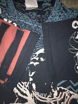 Vintage Magic Johnson Full Print Chicago Bulls Michael Jordan Shirt Large