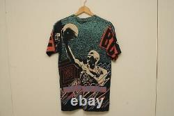 Vintage Magic Johnson T's Jordan Bulls NBA all over print shirt L SLIM