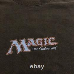 Vintage Magic The Gathering Game Promo T-shirt Size XL 1996 Rare