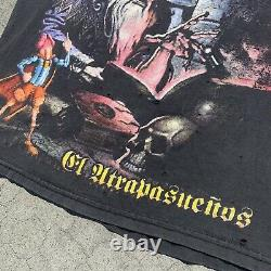 Vintage Mago De Oz T Shirt Metal Band Tee sz L Wizard Full Print Distressed RARE