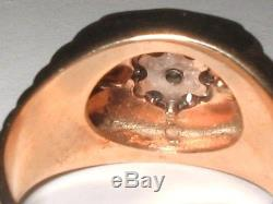 Vintage Men's Magic Glo 3/4 ctw Diamond Ring 14k Gold size 9 FREE SIZING