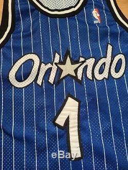 Vintage Mens Champion Orlando Magic Penny Hardaway Authentic Jersey Size 40-Blue