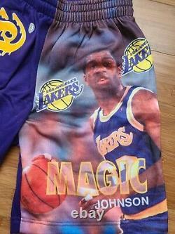 Vintage Mens Starter Los Angeles Lakers Magic Johnson Shorts Size Small