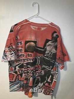 Vintage Michael Jordan Chicago Bulls Magic Johnson T's Air Dunk All Over T Shirt