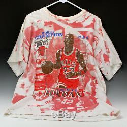 Vintage Michael Jordan MVP Chicago Bulls 91 Shirt All Around Print Magic SZ XXL
