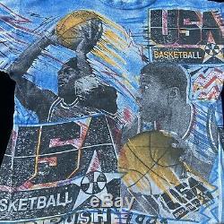 Vintage Michael Jordan Team USA Shirt MAGIC JOHNSON T'S Size XL