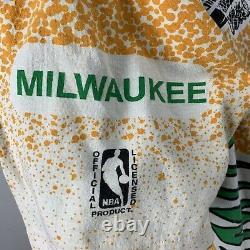 Vintage Milwaukee Bucks T Shirt All Over Print Magic Johnson Ts Single Stitch